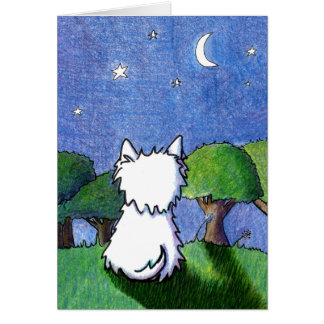 Westie Terrier Pet Loss Sympathy Card