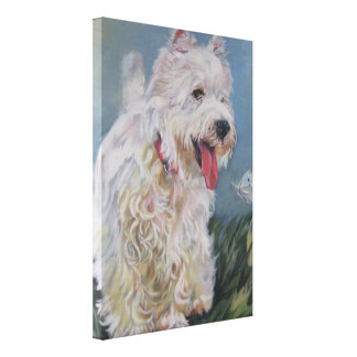 Westie West Highland Terrier fine art dog painting Canvas Print