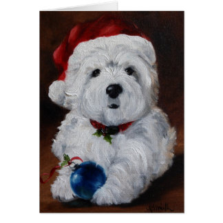 Westie West Highland Terrier Merry Christmas Card