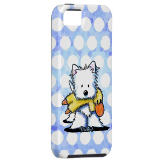Westie With Duck Toy Case For The iPhone 5