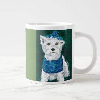 Westie with Tam & Bib on coffee mug