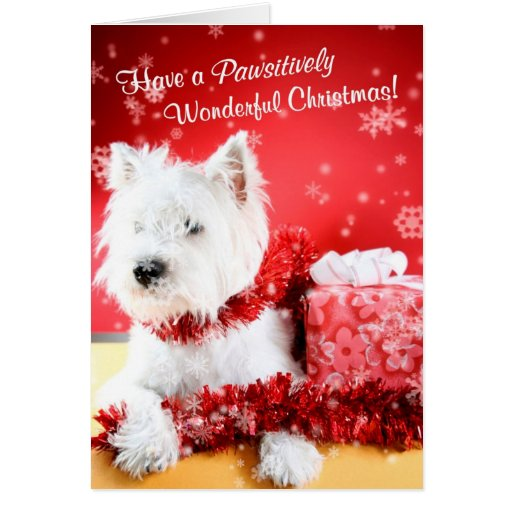 Westie Wonderful Christmas Wishes Customize It #2 Greeting Cards