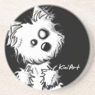 Westie Zombie Dog Coaster