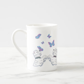 Westies and Butterflies Tea Cup