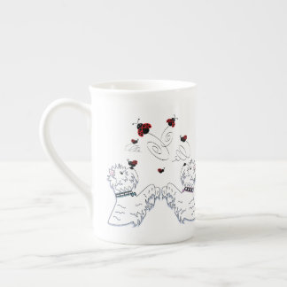 Westies and Ladybirds Tea Cup