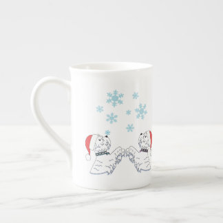 Westies and Snowflakes Tea Cup
