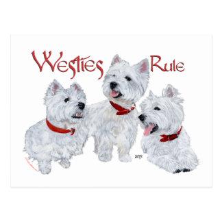 Westies Rule Postcards