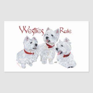 Westies Rule! Rectangular Sticker