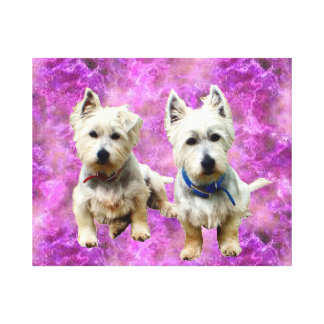 Westies Wall Canvas. Stretched Canvas Print