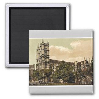 Westminster Abbey, London, England rare Photochrom Square Magnet