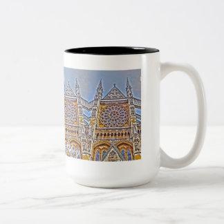 Westminster Abbey, London, U.K. Two-Tone Mug