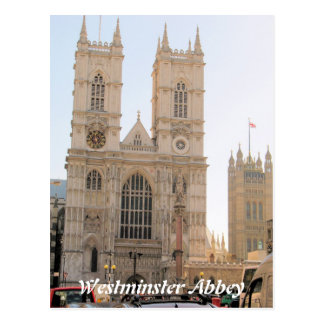 Westminster Abbey London UK postcard