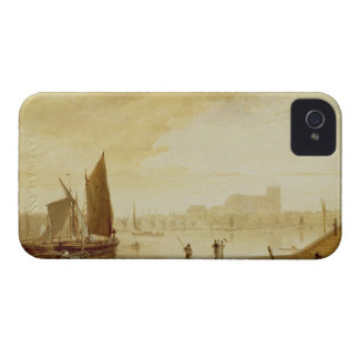 Westminster Bridge and Abbey, 1813 (oil on board) iPhone 4 Cover