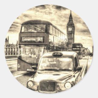 Westminster Bridge London Classic Round Sticker