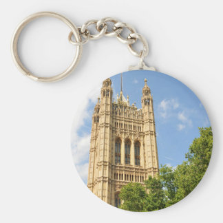 Westminster in London, UK Basic Round Button Key Ring