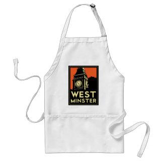 westminster retro art deco travel poster standard apron