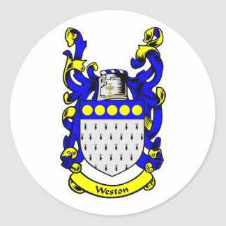 WESTON Coat of Arms Round Stickers