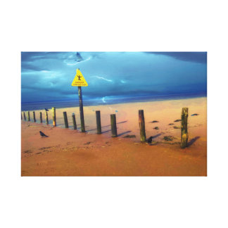 weston super mare in thunder canvas print