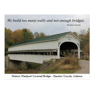 Westport Covered Bridge Postcard