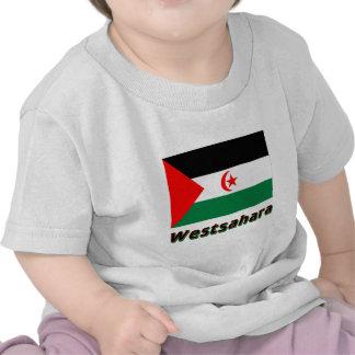 Westsahara Flagge mit Namen Tee Shirt
