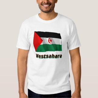 Westsahara Fliegende Flagge mit Namen T Shirt