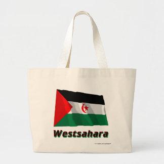 Westsahara Fliegende Flagge mit Namen Tote Bags