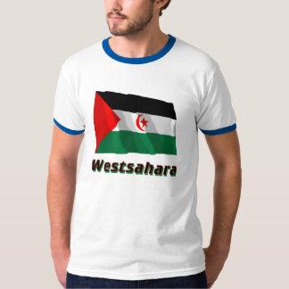Westsahara Fliegende Flagge mit Namen Tshirts