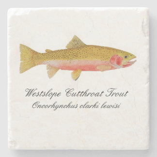 Westslope Cutthroat Trout Coaster Stone Beverage Coaster