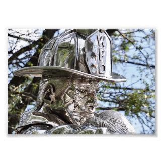 Westwood NJ's Firemen Memorial Photographic Print