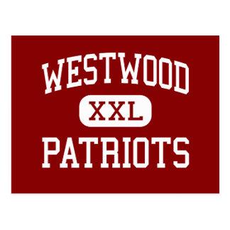 Westwood - Patriots - High - Ishpeming Michigan Postcard