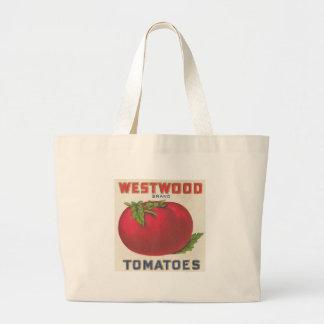 Westwood Tomatoes Vintage Label Jumbo Tote Bag