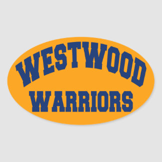 Westwood Warriors Oval Sticker