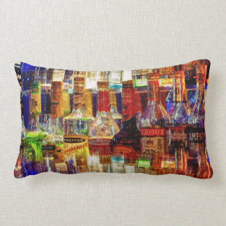 Wet Bar Abstract Lumbar Cushion