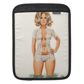 Wet clothes vintage pinup girl iPad sleeve