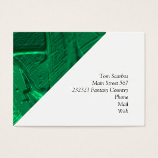 wet color texture,green business card