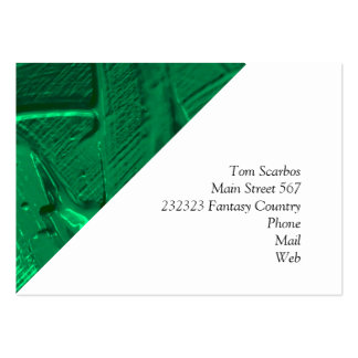 wet color texture,green pack of chubby business cards