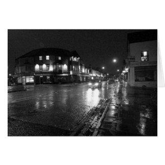 Wet Evening, Salisbury Road, Cardiff (2) Greeting Card