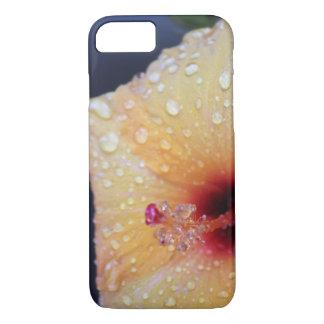 Wet hibiscus phone case