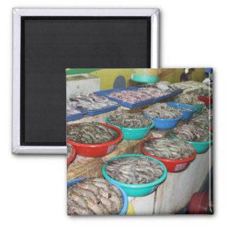 Wet market square magnet