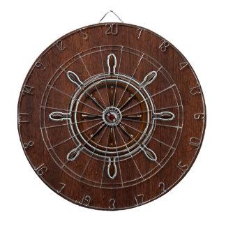 Wet Nautical Mahogany Nautical Wheel Dartboard