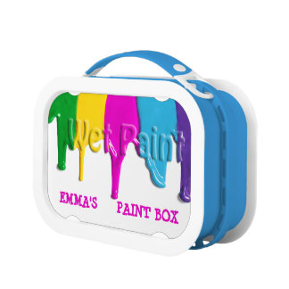 Wet Paint Dripping Paint Box Lunchboxes