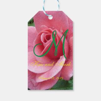 Wet Pink Rose Monogram