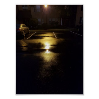 Wet Streets & Street Lights Poster