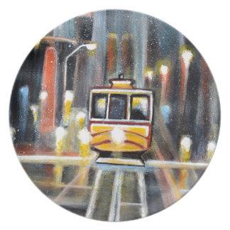Wet Tram Calafornia Plate