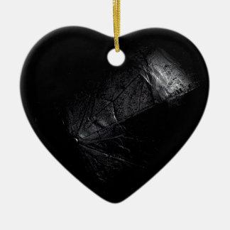 Wet umbrella. ceramic heart decoration