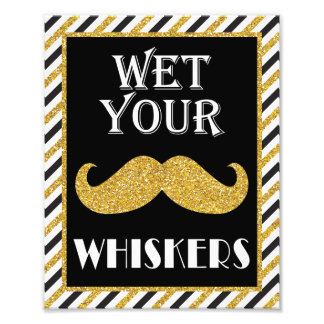 Wet Your Whiskers Beverage Sign • 8 x10 Print