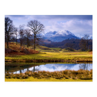 Wetherlam from The River Brathay post card