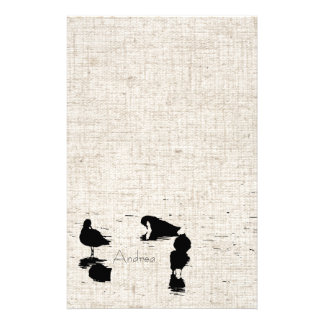 Wetlands Birds Linen Look Stationery