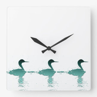 Wetlands Birds Wildlife Animals Photography Square Wall Clock