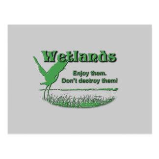 Wetlands. Enjoy Them, Don't Destroy Them Post Cards
